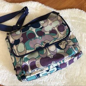 Coach Signature Nylon Messenger Bag